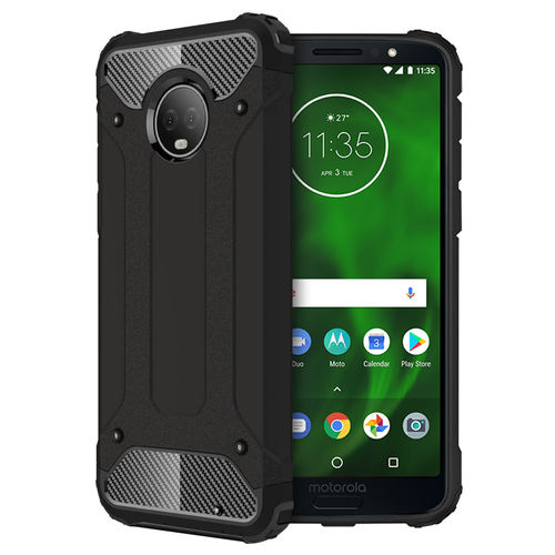 Military Defender Shockproof Case for Motorola Moto G6 Plus - Black
